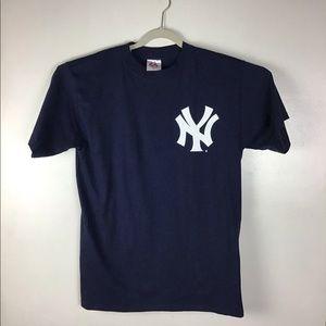 New York Yankees blue tee. Large